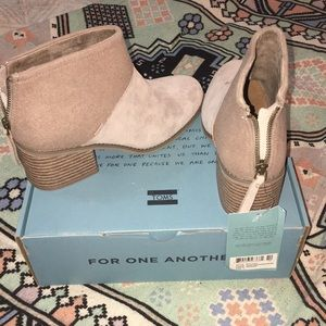 Toms Shoes - ✨NWT! TOMS Desert Taupe suede booties